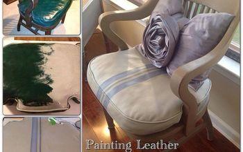 diy painting leather furniture, chalk paint, painted furniture, Painting Leather using Annie Sloan Chalk Paint