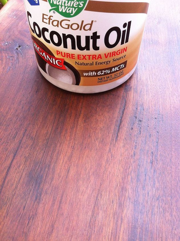 refinishing old wood with coconut oil, painted furniture