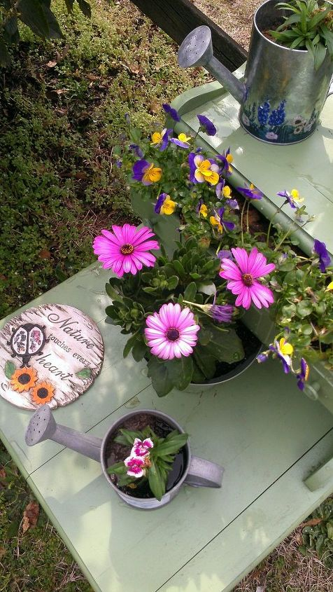 old piece of furniture planter, flowers, gardening, painted furniture, repurposing upcycling