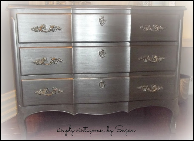Dresser Transformation Painted Furniture Modern Masters Metallic Paint Pewter