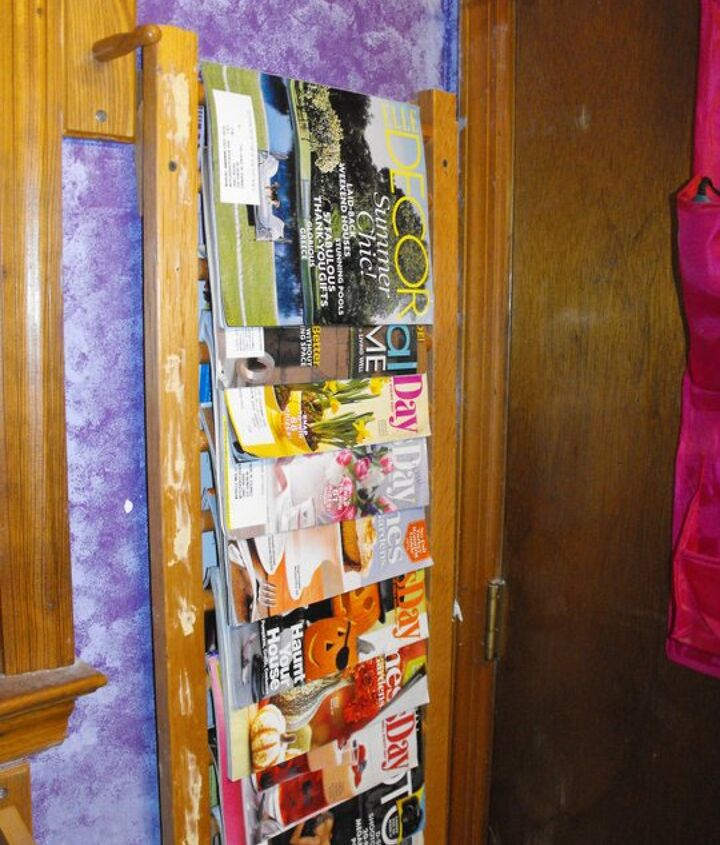 The sides of the crib went to make magazine racks. This is before I painted them.