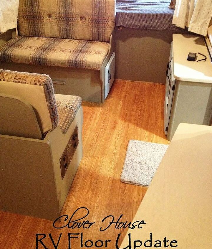 rv remodel on a budget floor update, flooring, home improvement, The final look that we love