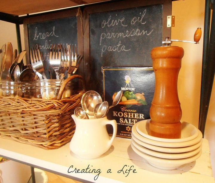 kitchen rack from found items, home decor, kitchen design, repurposing upcycling