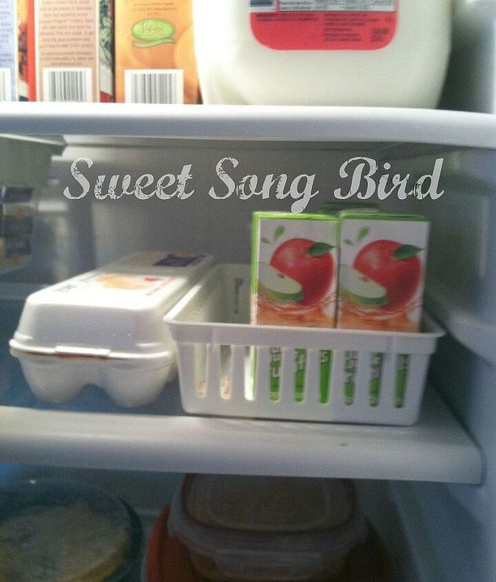 my organized fridge, appliances, organizing, Dollar Store baskets are great to use as well