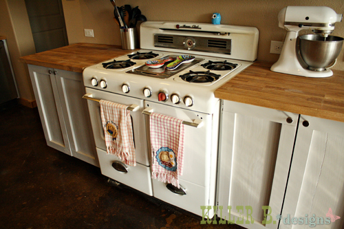 1950's Magic Chef gas range sourced from Craigslist