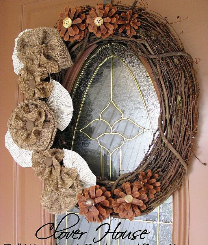 Our new Fall wreath.