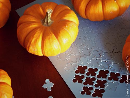 gold pumpkins part 1, crafts, stenciled gold pumpkins