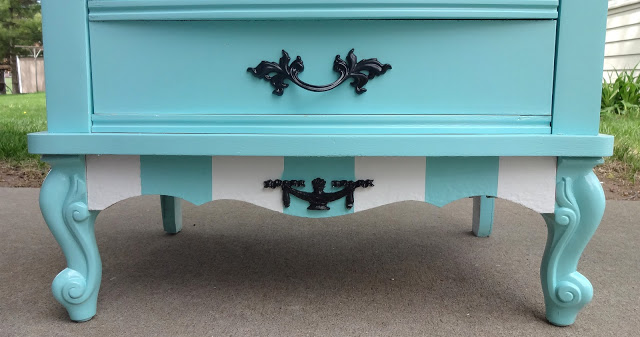 french provincial desk makeover, painted furniture