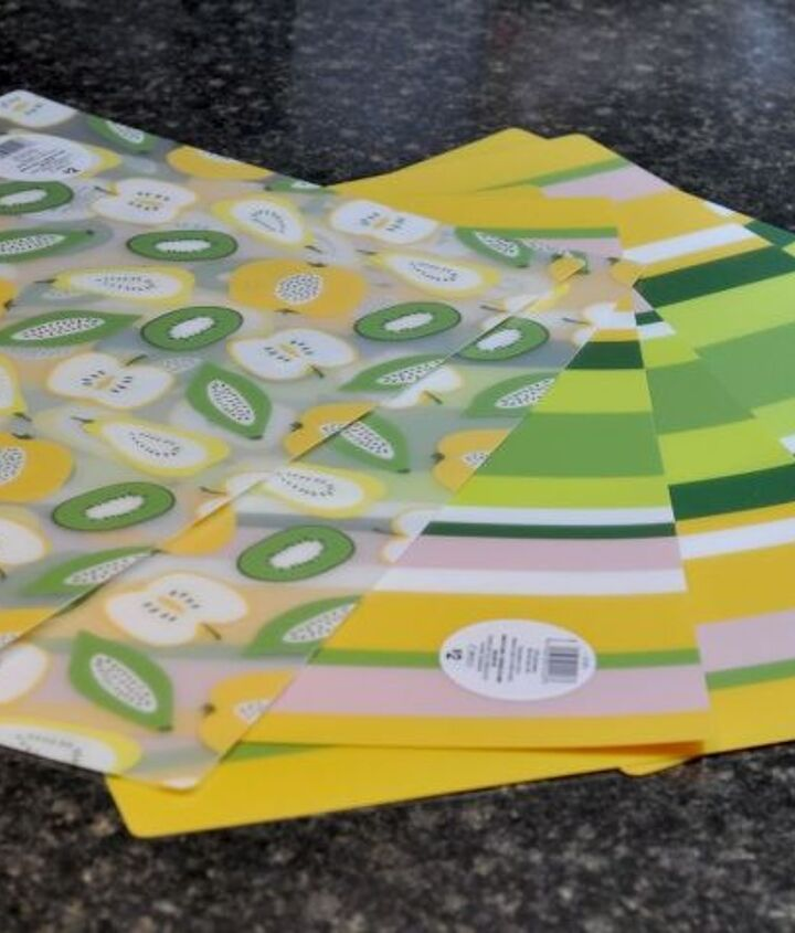 Gather plastic placemats (I used 6). These are easily found at big box stores (especially in Spring and Summer months)