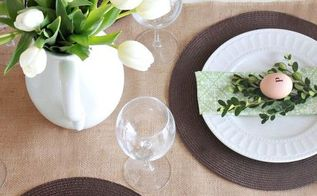 simple spring tablescape green amp white, seasonal holiday d cor