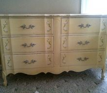 q can i use wall paint on old finished wooden furniture, painted furniture, This is the dresser I have had it more than 20 years I have a matching taller one but I want to use that for something else