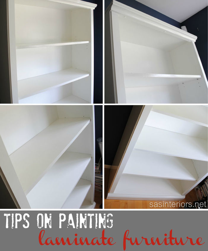 How To Paint Laminate Furniture Painted Shelving Ideas Tips On Painting