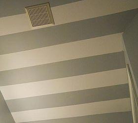 Striped Bathroom Ceiling, Bathroom Ideas, Home Decor, Painting, Small  Bathroom Ideas,