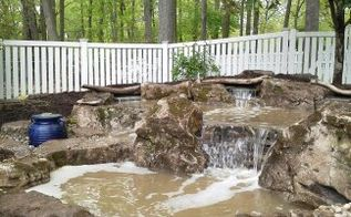 pondless waterfall creation, outdoor living, ponds water features, Pondless Pooling area
