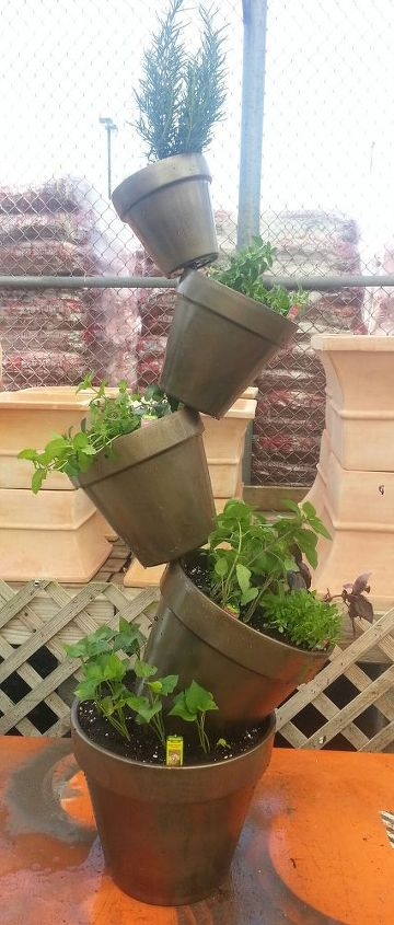herb plant tower, flowers, gardening