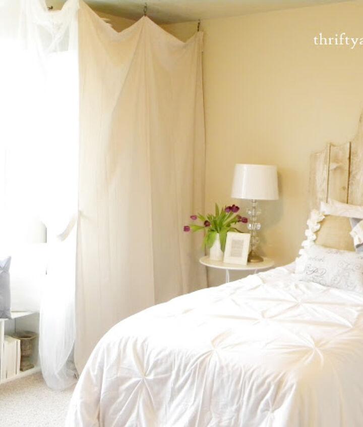 Bedroom portion of room