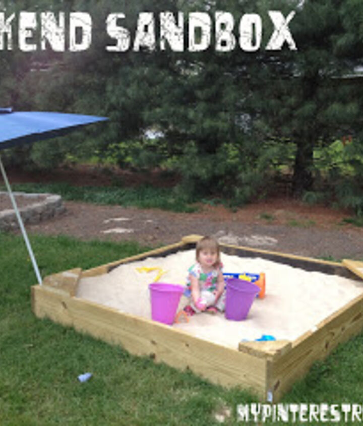 diy weekend sandbox, diy, outdoor living