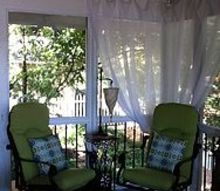screen porch seating daybed, fireplaces mantels, home decor, outdoor living, porches