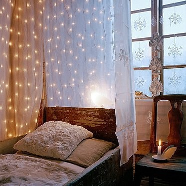 "5. Christmas Lights - I know...I know... I wish it were christmas all year round too, but you can exactly leave you lights up in a ""Santa's Coming!"" type fashion. So why not re-work these pretty twinkle lights make them applicable for"