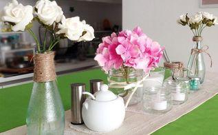 spring table centerpiece, seasonal holiday decor, Spring Table Setting