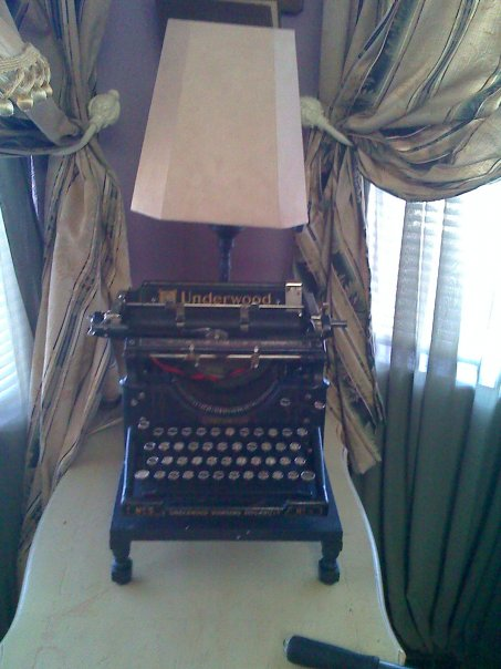 Lamp I built with an old typewriter to spark imagination and trigger memories of days gone by... as well as adding more reading light