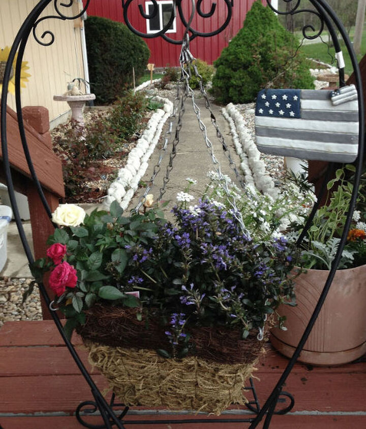 Red | White | and Blue Plantings with Heart
