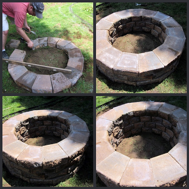 diy fire pit, concrete masonry, outdoor living, steps to building a fire pit