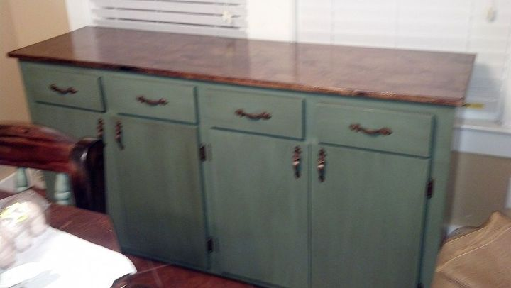 refinished table chairs and buffet, chalk paint, painted furniture