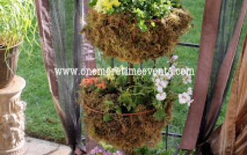 flip flop planter using a dome floor lamp, gardening, repurposing upcycling