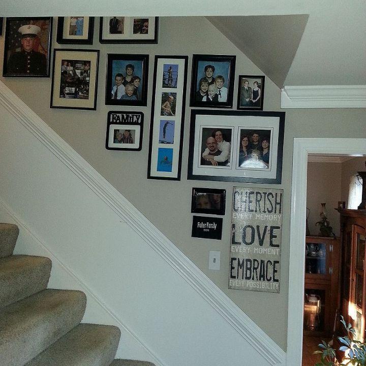 Stairway Gallery Wall | Hometalk