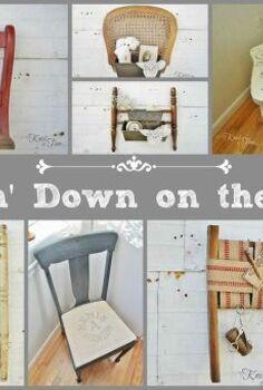repurposed broken chairs, painted furniture, repurposing upcycling