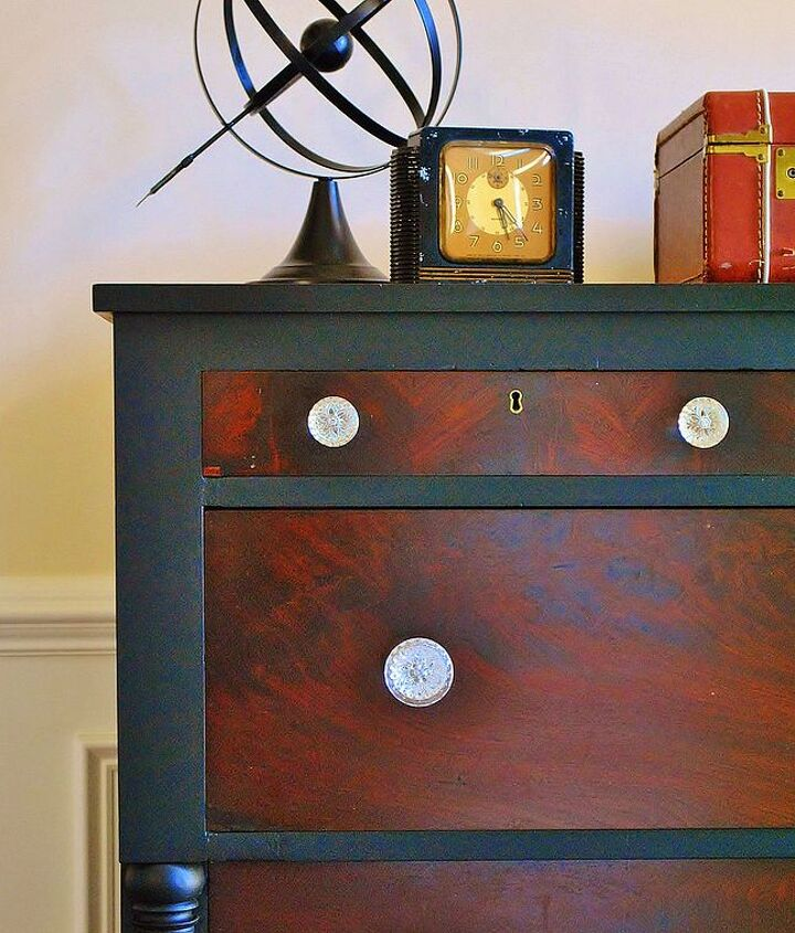 empire dresser makeover, home decor, painted furniture