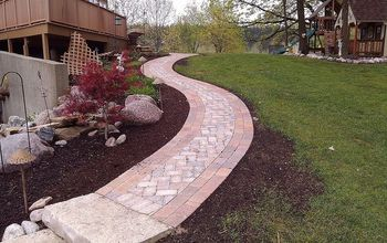 cedar lake sidewalk, concrete masonry, decks, landscape