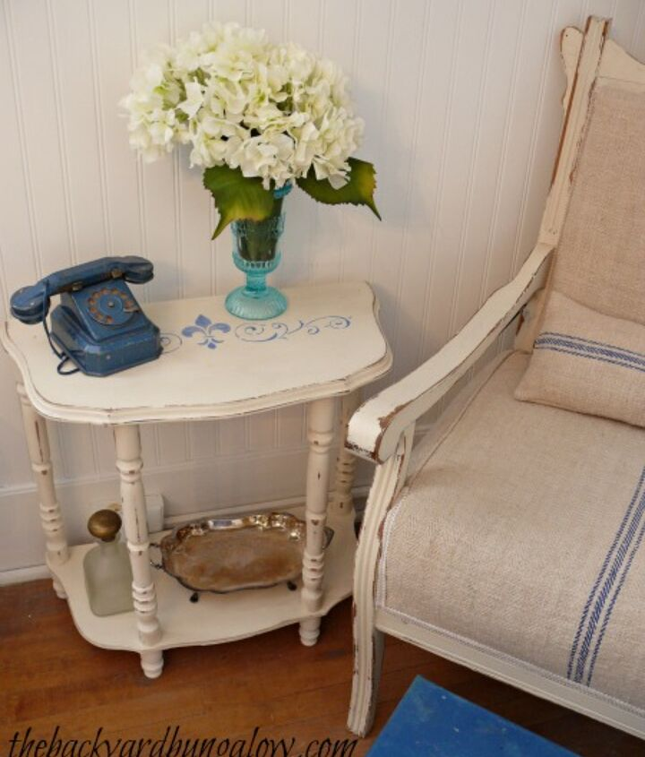 Refurbished chair and side table