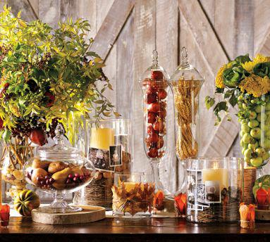 decorate or stage your home for fall with apothecary jars dare to diy here s how to, seasonal holiday d cor, Fall Decorating with Apothecary Jars