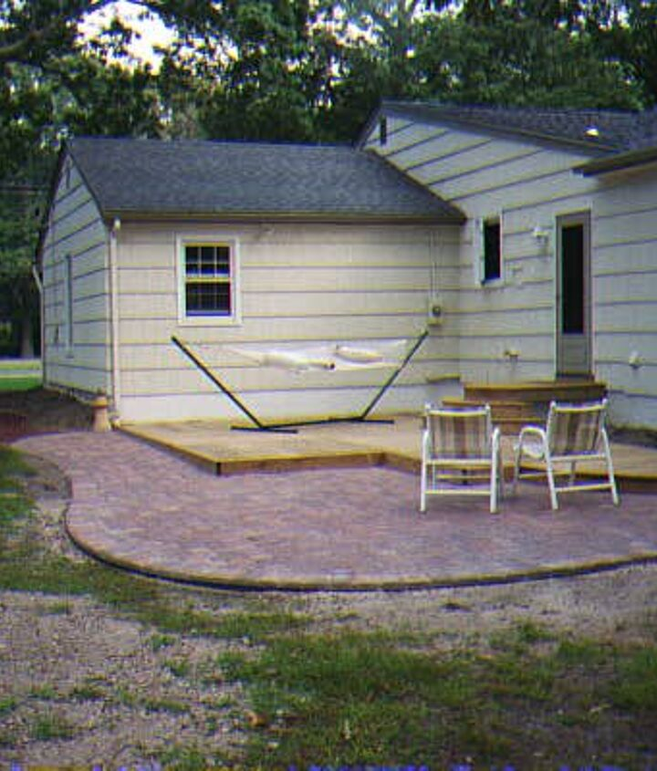 House after painting, hardscaping and steps...(clothesline-gone!)