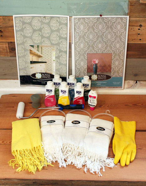 Yes, you can stencil scarves! http://www.royaldesignstudio.com/blogs/stencil-ideas/10301865-a-pretty-handy-girl-stencils-stylish-scarves-for-holiday-gifts