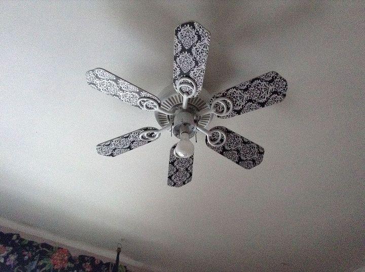 ceiling fan transformation, lighting, repurposing upcycling