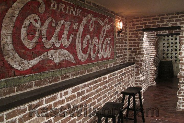 """This is truly a """"man cave""""!  It is themed around the Prohibition Era of the 1920's."""