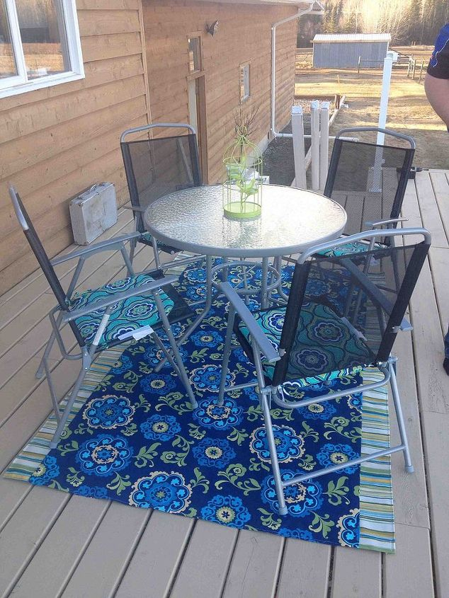 diy outdoor rug, crafts, decks, reupholster