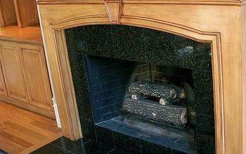 Fireplace Mantel Saved!!