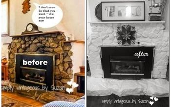 painting a fireplace, fireplaces mantels, home decor, painting