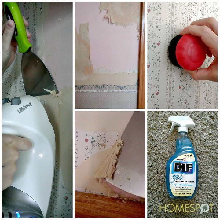 how to remove old wallpaper, diy, wall decor, Steaming or DIF both work to remove tough wallpaper