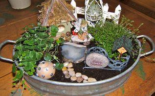 how to make a fairy garden, crafts, gardening