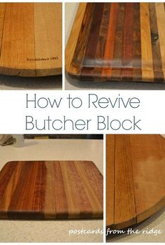 how to revive butcher block, cleaning tips, countertops, go green, kitchen design