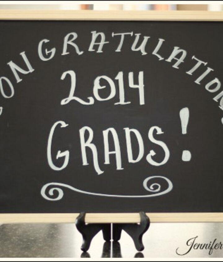graduation party decorating ideas, chalkboard paint, crafts, seasonal holiday decor