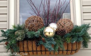winter containers, christmas decorations, outdoor living, seasonal holiday decor