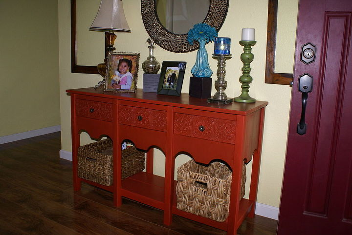 entry table redo, foyer, painted furniture