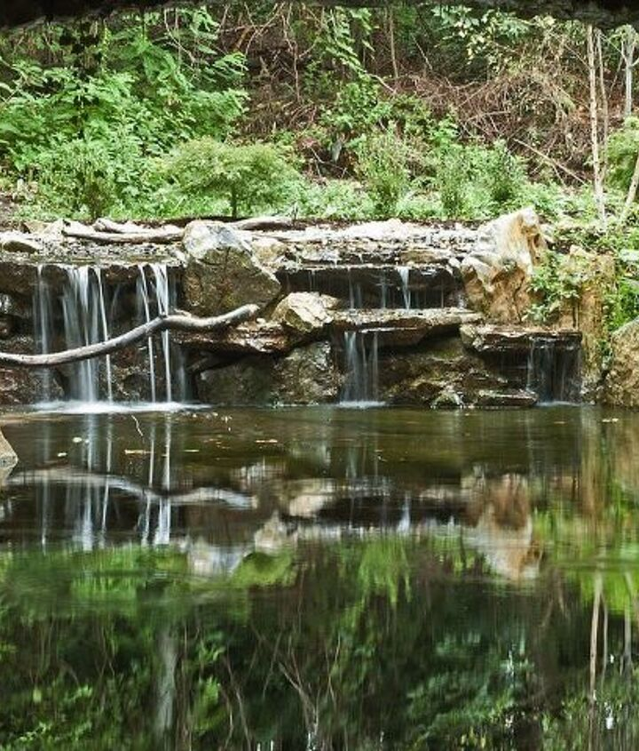 waterfall reflection built on Long Island by Deck and Patio Company www.deckandpatio.com