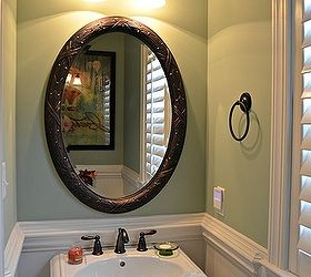 Half Bath Makeover Using Beadboard Wallpaper, Bathroom Ideas, Garage Doors,  Garages, Home